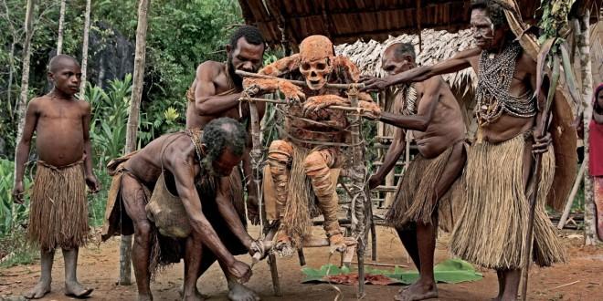 dimljene mumije Papue Nove Gvineje