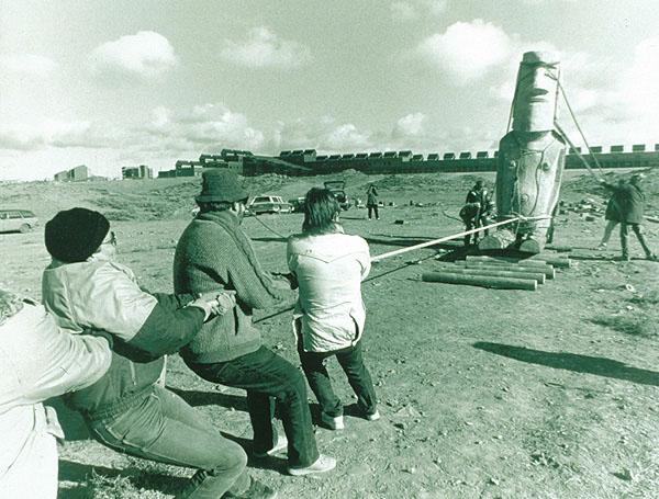 Moai premještanje