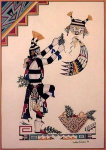 Koshare Pueblo klaun os uma
